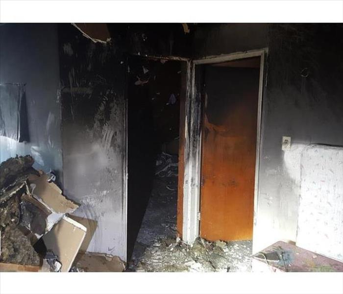 Bedroom Fire that moved to hallway
